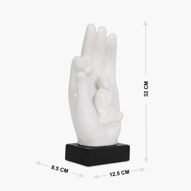 Splendid Buddha In Hand Figurine