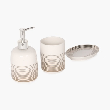 Addison Striped Bath Set-3pcs