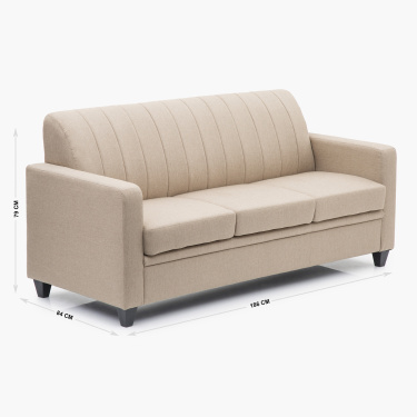 Alaska Arden Textured Three-Seater Sofa