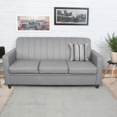 Alaska Arden Fabric Sofa -3 Seater Grey