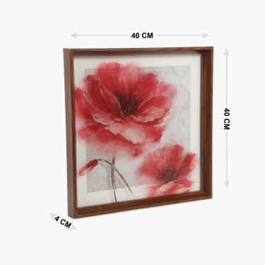 Artistry Floral Glass Painting Frame