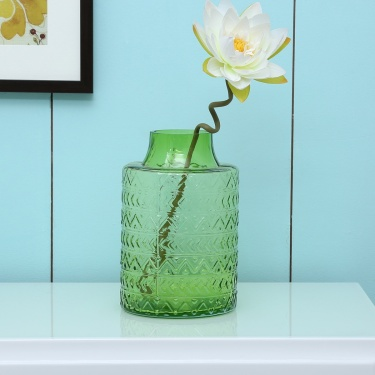 Splendid Rakel Wave Pattern Glass Vase