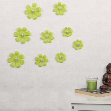 City Goes Wild Flower Wall Stickers- 9 Pcs.