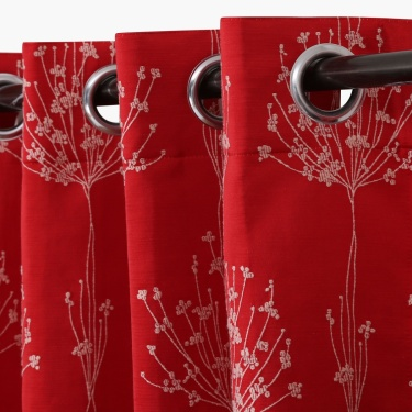Floss Jacquard Window Curtain Set-2pcs