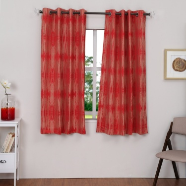 Matrix Linsey Jacquard Window Curtain Set-2pcs