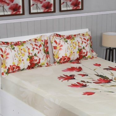 Matrix Printed 3-Pc. Double Bedsheet Set - 274 x 274 cm