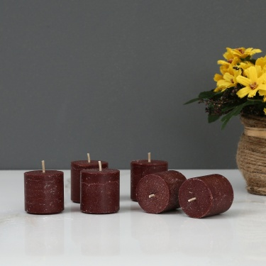 Splendid Sandalwood Votive Candle - Set Of 6