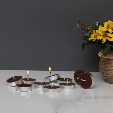 Splendid Sandalwood Scented Tea Light Candles - Set Of 10