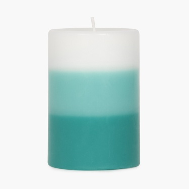 Splendid Ocean Breeze Three Tone Pillar Candle