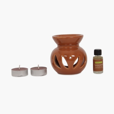 Serene Sandalwood Oil Burner Set