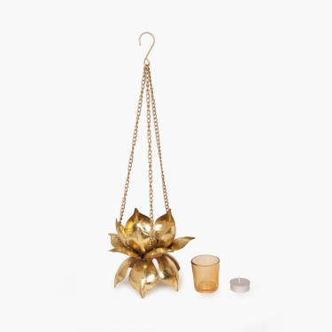 Galaxy Majestic Hanging Lotus Tea Light Holder