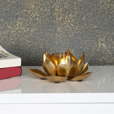 Galaxy Majestic Lotus T Light Holder