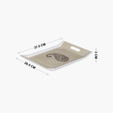 Meadows Golden Age Paisley Print Tray