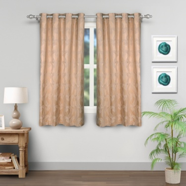 Griffin Black Out Window Curtains- Set Of 2 Pcs.