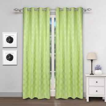 Griffin Black Out Door Curtains- Set Of 2 Pcs.