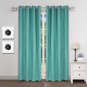 Griffin Blackout Geometric Door Curtains- Set of 2 Pcs.