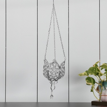 Galaxy Opal Flower Hanging Tea Light Holder