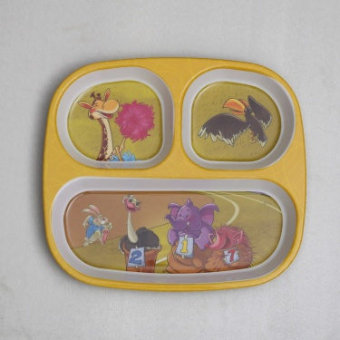 City Goes Wild Rectangular Kids Partition Plate