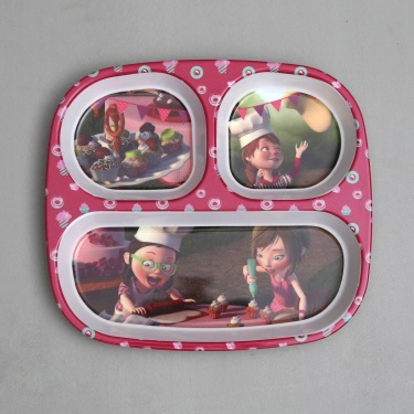 Fabulous3 Rectangular Kids Partition Plate