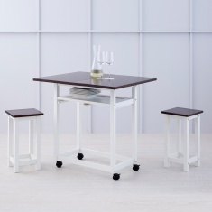 Butterfly Fold and Rotate Dining Table Without Chairs - 2 Seater