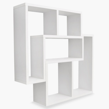 Inset Wall Shelf Set - 2pcs. White