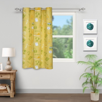 City Goes Wild Back To School Rotary Printed Window Curtain