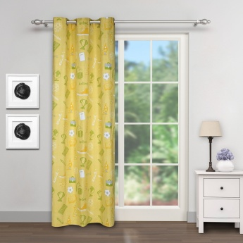 City Goes Wild Back To School Rotary Printed Door Curtain