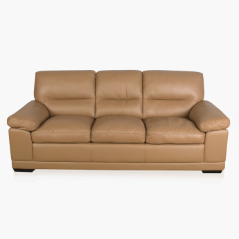 Winchester Half Leather Sofa -3 Seater brown