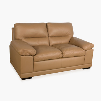 Winchester Half Leather Sofa -2 Seater brown
