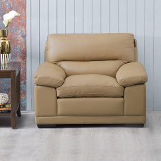 Winchester Half Leather Sofa -1 Seater brown