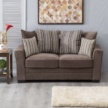 Fedora Fabric Sofa -2 Seater Brown