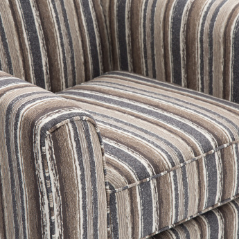 Fedora Fabric Sofa -1 Seater Brown