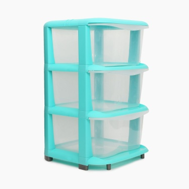 Omnia Multipurpose 3 Tier Drawer Cabinet