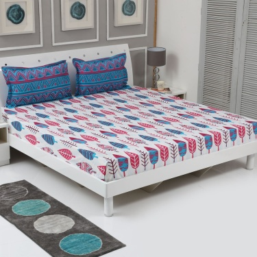 Harold Printed 3-Pc. Double Bedsheet Set - 228 x 254 cm
