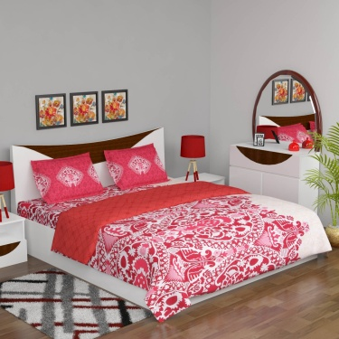 Marlin Floral Bedding Set with Comforter - 4 Pcs