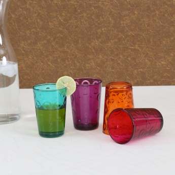 Carley Glass Circle Juice Glass- Set Of 4 Pcs.