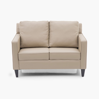 Roce Atlantis Faux Leather Sofa 2 Seater Beige