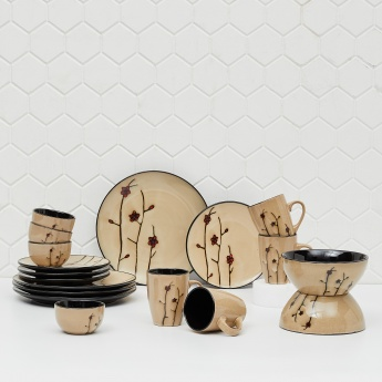 Tessa Delia Printed Stoneware Dinner Set- 18 Pcs.