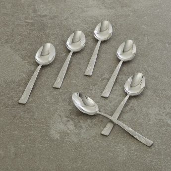 FNS Stainless Steel Dessert Spoon Set - 6 Pcs.