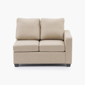 Signature Arden Fabric Right Arm Sofa -2 Seater Beige