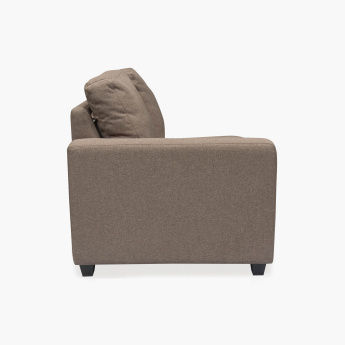 Signature Arden Fabric Left Arm Sofa -2 Seater Brown