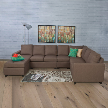 Signature Arden Fabric Right Arm Sofa -2 Seater Brown
