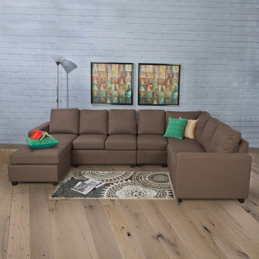 Signature Arden Fabric Ar ml.ess Sofa -2 Seater Brown