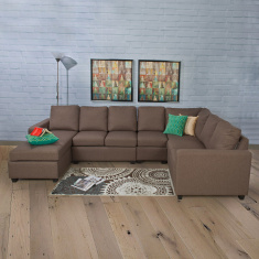 Signature Arden Left Arm Chaise Brown