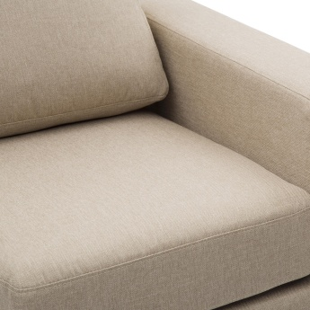 Signature Arden Fabric Right Arm Sofa -1 Seater Beige