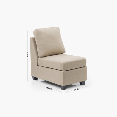 Signature Arden Fabric Ar ml.ess Sofa -1 Seater Beige