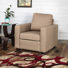 Signature Arden Fabric Sofa -1 Seater Beige