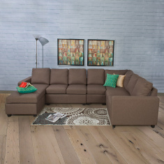 Signature Arden Fabric Ar ml.ess Sofa -1 Seater Brown