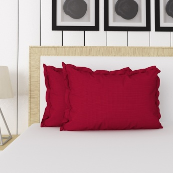 Signature Solid Cotton Pillow Cases- Set Of 2 Pcs.