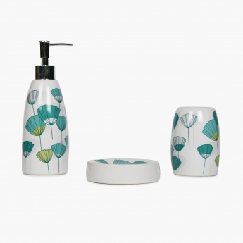 Addison Ceramic Bath Accessories Set- Pack Of 3 Pcs.